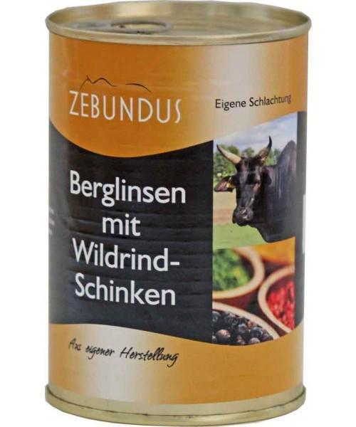Berglinsen mit Wildrind 400g (Mutschler)