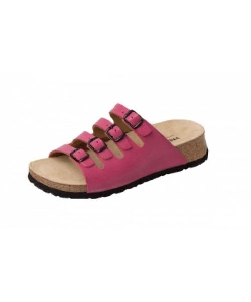 Damen Bio-Gesundheits-Pantolette mit Keilfussbett pink ArtikelNr. 11460