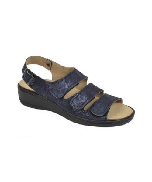 Damen orthopädische Sandale mit Wechselfussbett blau  met