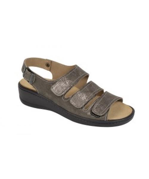 Damen orthopädische Sandale mit Wechselfussbett braun met