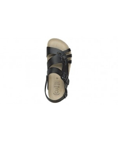 Damen-Bio-Gesundheits-Sandale schwarz