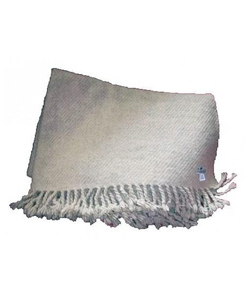 Wolldecke, handgewoben vom Coburger Fuchsschaf (Arche-Hof)