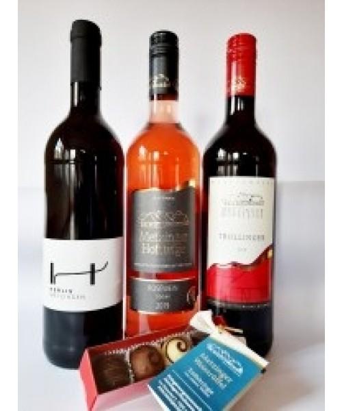 Weingeschenkpaket mit Weintrüffeln