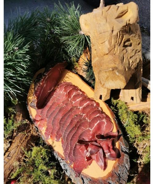 Rauchfleisch von der Wildschweinkeule in Scheiben, ca. 100g Wild Göbel