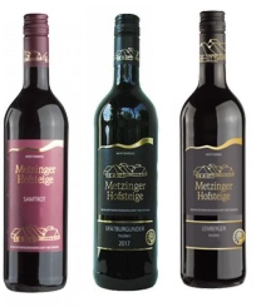 Rotwein-Probierpaket 6 Flaschen für 46,90€  (pro Flasche 7,82 €) - Metzinger Wein