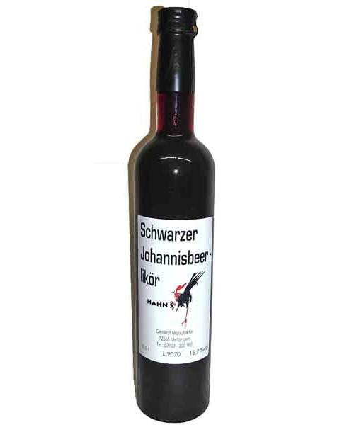 Schwarzer Johannisbeerlikör 15,7%vol 0,5 l (Hahn)