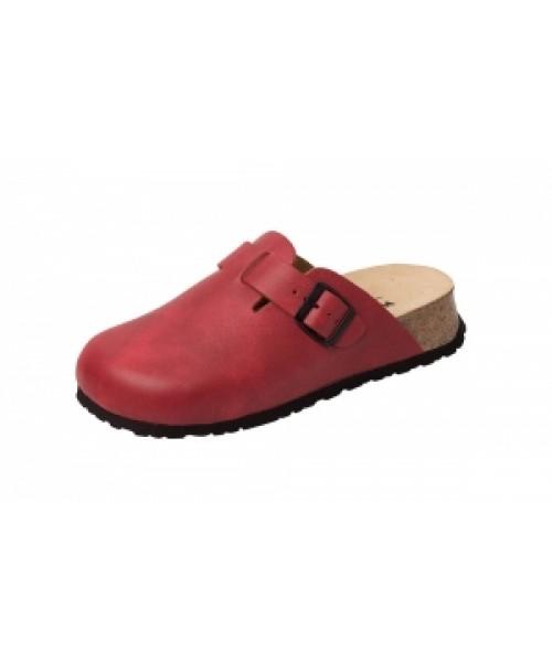 Unisex Bio-Gesundheits-Clog mit Keilfussbett rot ArtikelNr. 41520