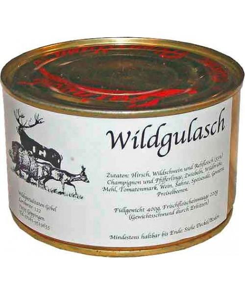 Wildgulasch vom Reh, Hirsch und Wildschwein (Göbel)