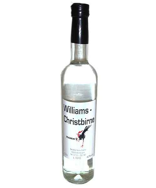 Williams Christbirne  42%vol 0,5 l (Hahn)