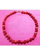 Mashan Jade und rote Turmaline Edelstein Halskette