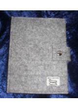 Notizblockhülle DIN A 4 aus Filz vom Alpinen Steinschaf (Arche-Hof)