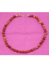 Roter Jaspis, Edelstein Halskette