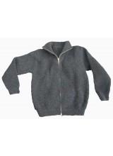Troyer-Jacke in naturdunkelbrauner Wolle vom Schwarzen Bergschaf (Arche-Hof)