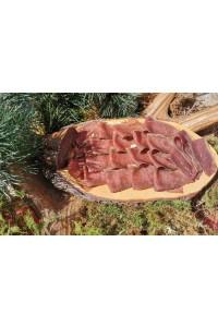 Rauchfleisch von der Hirschkeule in Scheiben, ca. 100g Wild Göbel