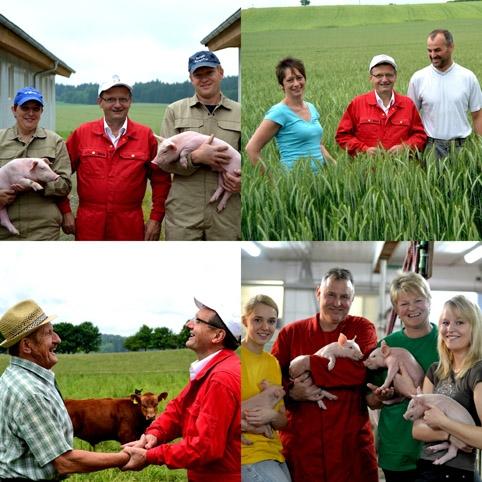 Regionale Bauernhöfe beliefern die Albmetzgerei Steinhart